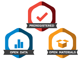 3 open science badges
