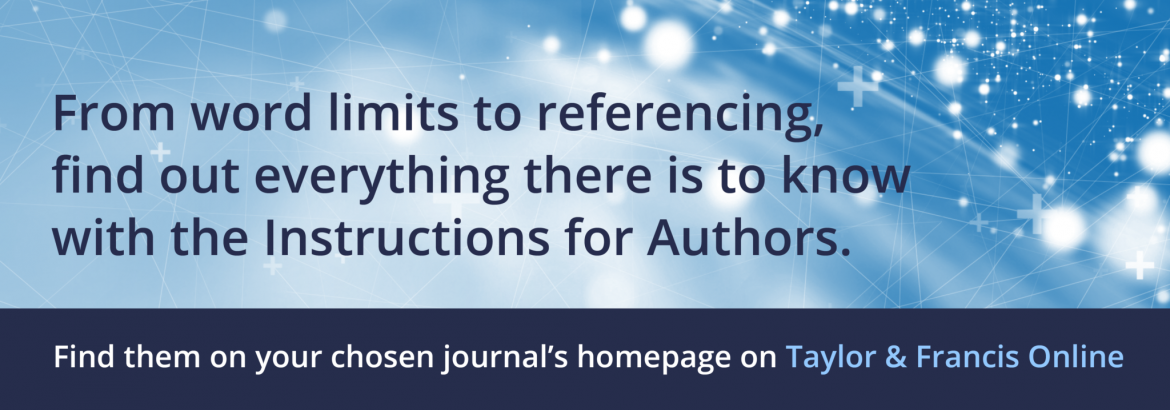 Instructions for authors banner