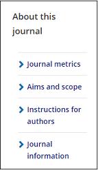 The Taylor & Francis Online journal menu